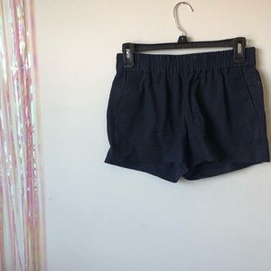 J crew navy blue shorts with elastic band